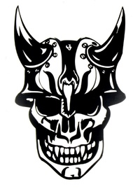 Windowsticker  Skull 002 Black