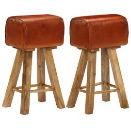 Барный стул VLX Solid Mango Wood 246685, коричневый, 2 шт.