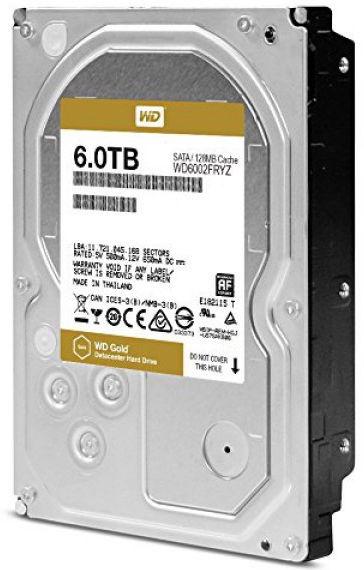 Western Digital Gold 6TB 7200RPM SATA 128MB WD6002FRYZ