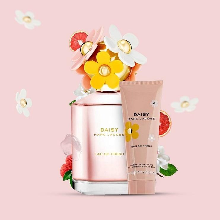Набор для женщин Marc Jacobs Daisy Eau So Fresh 75 ml EDT + 75 ml Shower Gel + 75 ml Body Lotion New Design