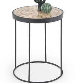 Kafijas galdiņš Halmar Naturo 2 Black, 470x470x610 mm