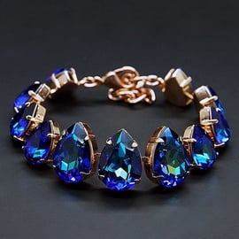 Diamond Sky Bracelet Crystal Drop Bermuda Blue With Crystals From Swarovski