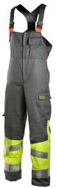 Dimex 6002 Bib & Brace Overall Grey/Yellow L
