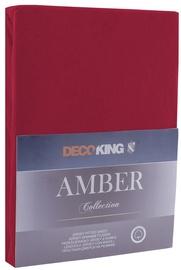 Palags DecoKing Amber, ķiršu, 160x200 cm, ar gumiju