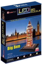 3D puzle CubicFun Big Ben London 3D LED L501H, 28 gab.