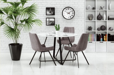 Halmar Looper Table Black/White