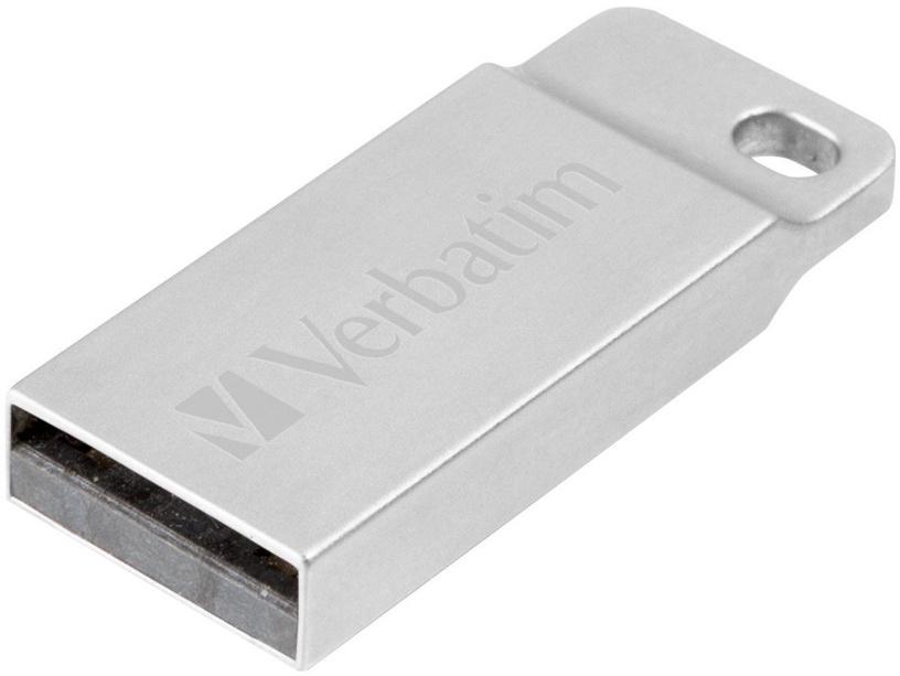 USB atmintinė Verbatim Metal Executive Silver, USB 2.0, 64 GB
