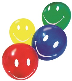 Susy Card Party Balloons Smiley Assorted Colours 10pcs