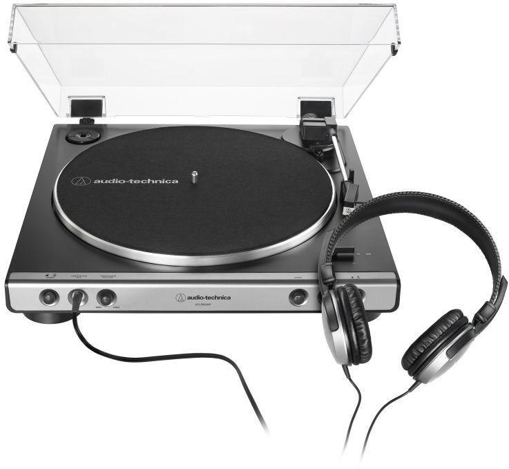 Plaadimängija Audio-Technica AT-LP60XHP Black/Silver, hõbe/must, 2.7 kg