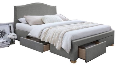 Signal Meble Bed Celine Grey 165x217cm