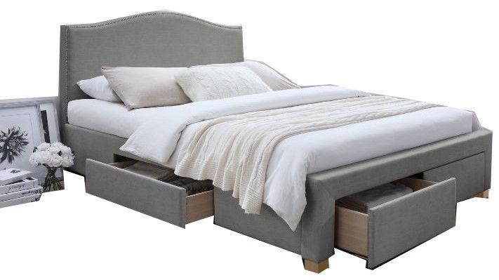Signal Meble Bed Celine Grey 165x217cm