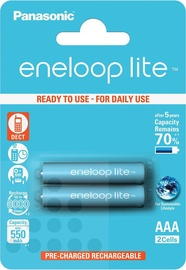 Panasonic Eneloop Lite Rechargeable Battery 2xAAA 600mAh