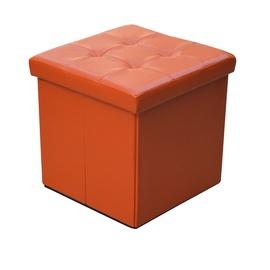 Pufas su daiktadėže, oranžinis, 38 x 38 x 37,5 cm