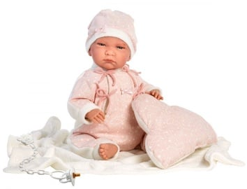 Llorens Doll Newborn Crying Lala In Pink Romper 42cm 74056