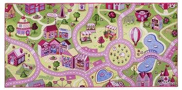 Paklājs Sweet town 0.95x2.0m, rozā
