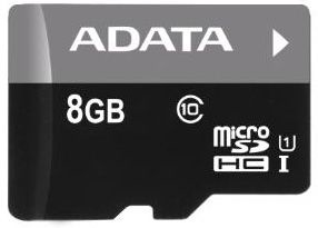A-Data 8GB Micro SDHC UHS-I U1 Class 10 + Adapter