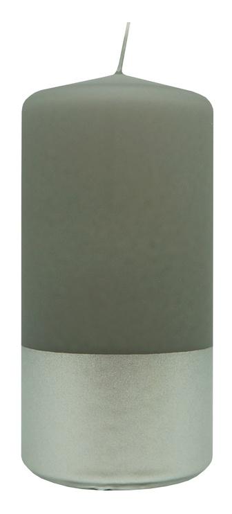 Diana Candles Pillar Candle Silver/Grey 5.8x12cm