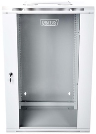 "Digitus Double Section Wallmount Cabinet 19"" 18U/600 mm Gray"
