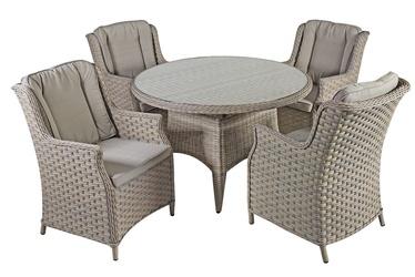 Комплект уличной мебели Home4you Pacific K10495, кремовый/серый, 4 места