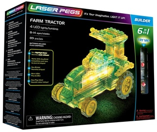 Laser Pegs 6 In 1 Farm Tractor