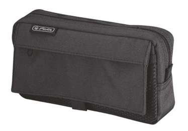 Herlitz Pencil Pouch With 2 Add.Bags Black