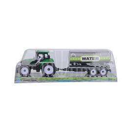 Žaislinis traktorius, su priekaba