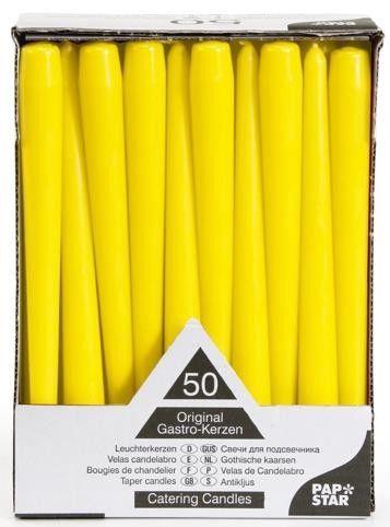 Pap Star Candles 50PCS Yellow