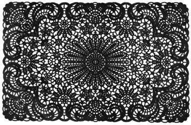 Home4you Lace 30x45cm Black