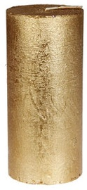 Verners Rustic Candle 7x15cm Gold