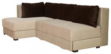 Bodzio Corner Sofa Judyta Left Beige/Dark Brown