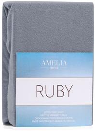 Palags AmeliaHome Ruby, pelēka, 200x200 cm, ar gumiju