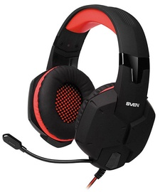 Ausinės Sven AP-G988MV Headphones w/Mic Black Red