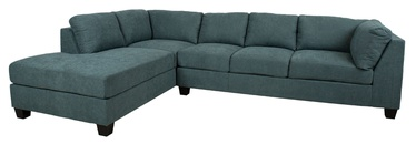 Kampinė sofa Home4you Helmy Green, kairinė, 210 x 309 x 82 cm