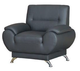 Kanclers Livonia Armchair Eco Leather Dark Gray