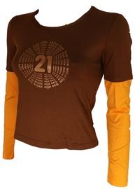 Bars Womens Long Sleeve Shirt Brown/Yellow 135 M
