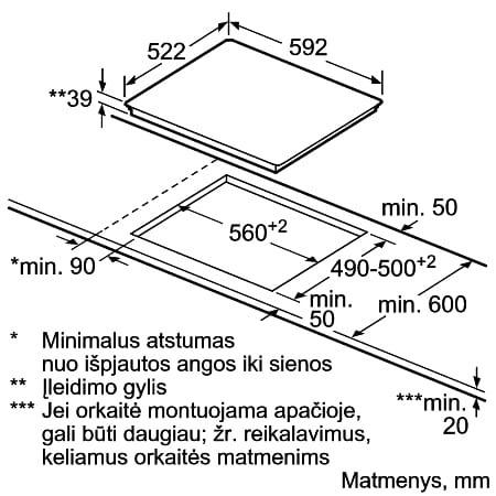 Integreeritav pliidiplaat Bosch PKE611D17E