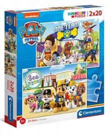 Clementoni Puzzle SuperColor Paw Patrol 2x20pcs 24779