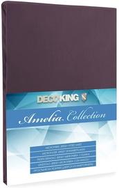 Palags DecoKing Amelia Chocolate, 180x200 cm, ar gumiju