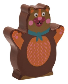 Oops Wooden Rattle Toy Bear Brown 13008.11
