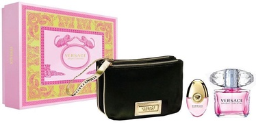 Versace Bright Crystal 90ml EDT + 10ml EDT + Black Cosmetic Bag