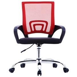 Kontoritool VLX Office Chair, must/punane