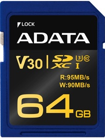Adata Premier Pro SDXC 64GB UHS-I U3 Class 10 ASDX64GUI3V30G-R
