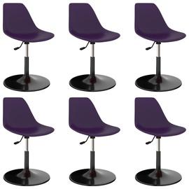 Ēdamistabas krēsls VLX 3059392, violeta, 6 gab.