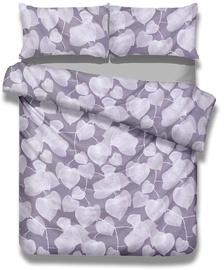 Gultas veļas komplekts AmeliaHome Basic, violeta, 200x220/80x80 cm