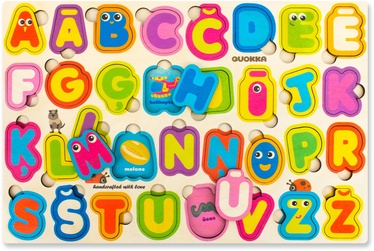 Quokka Wooden Puzzle Latvian Alphabet
