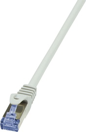 LogiLink Patch Cable Cat.6A from Cat.7 600 MHz S/FTP PIMF PrimeLine 20m Grey