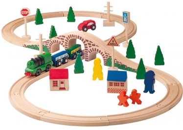 Woody Railway And Car Set 91121