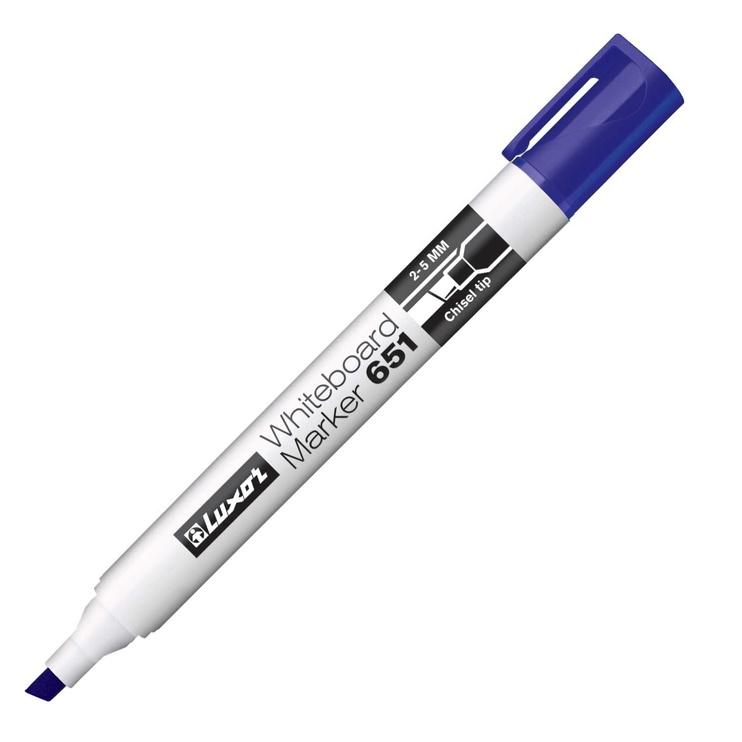 Baltās tāfeles marķieris Luxor Whiteboard Marker Blue 651