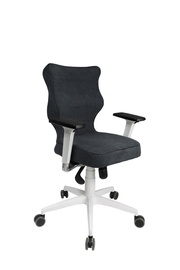 Entelo Perto White AT04 Office Chair Navy Blue