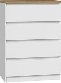 Kumode Top E Shop Malwa M4 B22 Artisan White, 70x40x98 cm